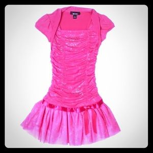 Any Byer Pink Glitter Party Dress